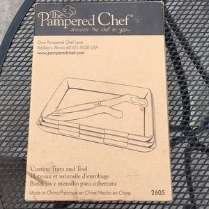 Pampered Chef Coating Trays and Tool